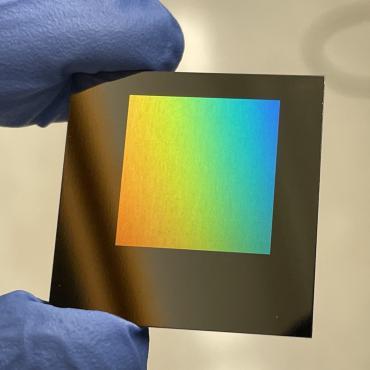 Close-up of Metamaterial Design using laser