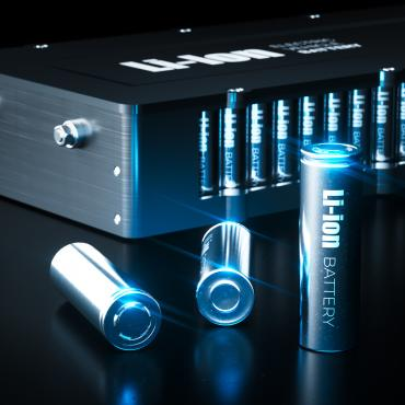 Closeup if Lithium Ion Battery pack